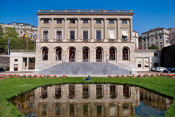 The neo-classical Palais Eynard in Geneva (Switzerland, 16/04/2010)