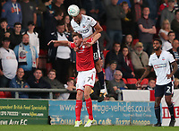 Bolton Wanderers' Darren Pratley and Crewe Alexandra's Chris Porter<br /> <br /> Photographer Rachel Holborn/CameraSport<br /> <br /> The Carabao Cup - Crewe Alexandra v Bolton Wanderers - Wednesday 9th August 2017 - Alexandra Stadium - Crewe<br />  <br /> World Copyright &copy; 2017 CameraSport. All rights reserved. 43 Linden Ave. Countesthorpe. Leicester. England. LE8 5PG - Tel: +44 (0) 116 277 4147 - admin@camerasport.com - www.camerasport.com