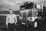 1975. Truck driver, Lamar truck stop, Pennsylvania. file# 75-228-B.