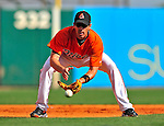 14 March 2009: Baltimore Orioles' infielder Chris Gomez warms up prior to a Spring Training game against the Boston Red Sox at Fort Lauderdale Stadium in Fort Lauderdale, Florida. The Orioles defeated the Red Sox 9-8 in the Grapefruit League matchup. Mandatory Photo Credit: Ed Wolfstein Photo
