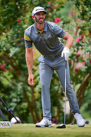 Dustin Johnson (USA) watches his tee shot on 2 during Saturday's round 3 of the PGA Championship at the Quail Hollow Club in Charlotte, North Carolina. 8/12/2017.<br /> Picture: Golffile | Ken Murray<br /> <br /> <br /> All photo usage must carry mandatory copyright credit (&copy; Golffile | Ken Murray)