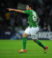 FUSSBALL   1. BUNDESLIGA   SAISON 2011/2012   23. SPIELTAG SV Werder Bremen - 1. FC Nuernberg                   25.02.2012 Claudio Pizarro (SV Werder Bremen)