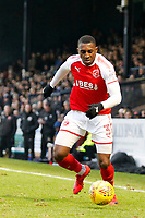 Amari'i Bell of Fleetwood Town on the ball during the Sky Bet League 1 match between Southend United and Fleetwood Town at Roots Hall, Southend, England on 13 January 2018. Photo by Carlton Myrie.