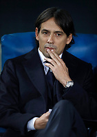 Calcio, Serie A: Roma, stadio Olimpico, 11 dicembre 2017.<br /> Lazio's coach Simone Inzaghi waits for the start of the Italian Serie A football match between Lazio and Torino at Rome's Olympic stadium, December 11, 2017.<br /> UPDATE IMAGES PRESS/Isabella Bonotto