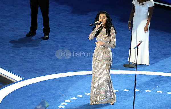 PHILADELPHIA, PA - JULY 28: Katy Perry pictured performing at The 2016 Democratic National Convention day 4 at The Wells Fargo Center in Philadelphia, Pennsylvania on July 28, 2016. Credit: Star Shooter/MediaPunch