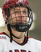 Brendan Rempel (Harvard - 42) - The Harvard University Crimson defeated the visiting Clarkson University Golden Knights 3-2 on Harvard's senior night on Saturday, February 25, 2012, at Bright Hockey Center in Cambridge, Massachusetts.