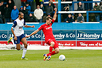 O's David Mooney scores the opener during Barrow vs Leyton Orient, Vanarama National League Football at the Furness Building Society Stadium on 7th October 2017