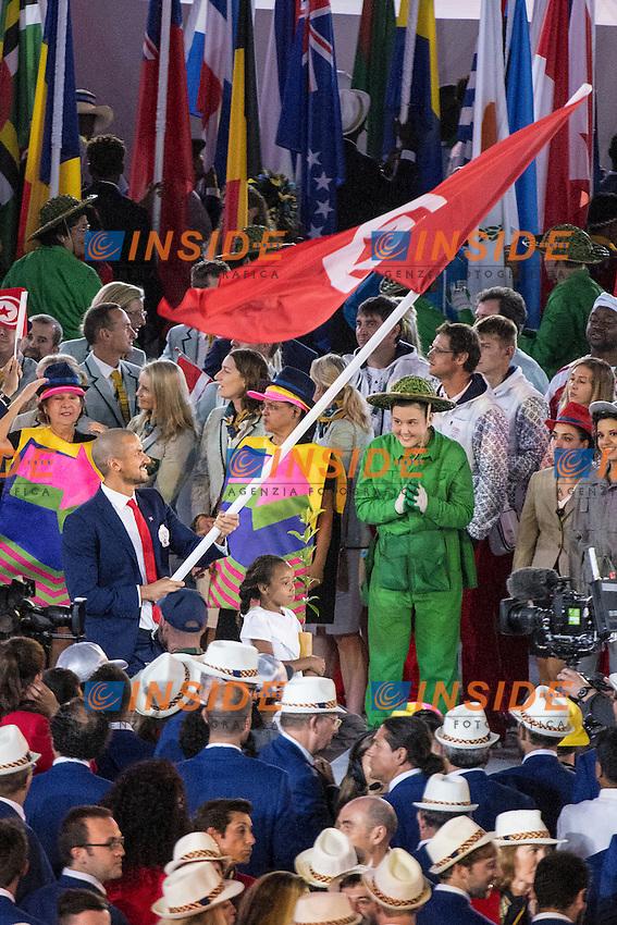 Oussama Mellouli Team<br /> Rio de Janeiro 06-08-2016 XXXI Olympic Games <br /> Maracana' Stadium <br /> Opening Ceremony 05/08/2016<br /> Photo Giorgio Scala/Deepbluemedia/Insidefoto