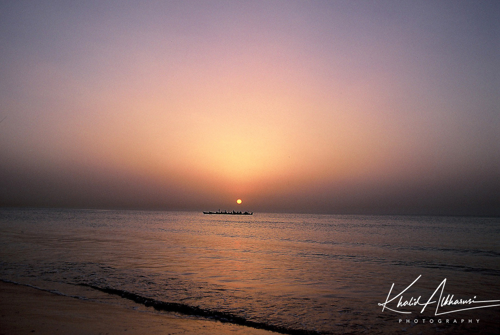 Sunset in Qurum Beach