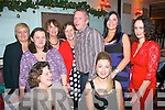 CHRISTMAS RECORD: Staff from the Bon Secours Hospital, Strand Rd, Tralee medical records department had their Christmas night out last Friday night in Duffin's bar/restaurant, Ballymullen, Tralee seated l-r: Carmel Roche and Louise Lynch. Back l-r: Olivia Pryan, Marie Quirke, Ann McGuire, Kathleen Leen, Martin Dowling, Sharon Lucid and Sinead Lawlor.