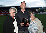 St Johnstone Player of the Year Awards...04.05.13.StJFC Supporters Bus The Muirton Sweeties Cult Hero Award went to Alan Mannus presented by Mags McGlashan and Freda Burns.Picture by Graeme Hart..Copyright Perthshire Picture Agency.Tel: 01738 623350  Mobile: 07990 594431