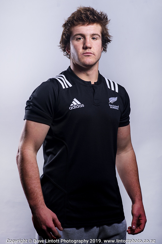 Jack Sexton (St Andrew's College). 2019 New Zealand Schools rugby union headshots at the Sport & Rugby Institute in Palmerston North, New Zealand on Wednesday, 25 September 2019. Photo: Dave Lintott / lintottphoto.co.nz