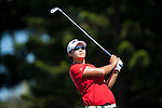 Yani Tseng of Taiwan tees off on the 2nd hole during the day one of the Sunrise LPGA Taiwan Championship at the Sunrise Golf Course on October 25, 2012 in Taoyuan, Taiwan. Photo by Victor Fraile / The Power of Sport Images