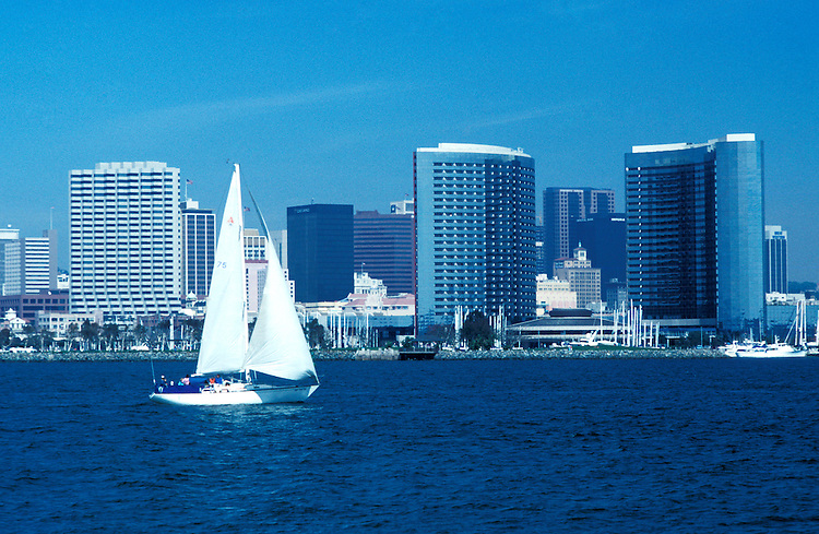 California: San Diego.  Skyline.  Photo #: casand101.  Photo copyright Lee Foster, 510/549-2202, lee@fostertravel.com, www.fostertravel.com