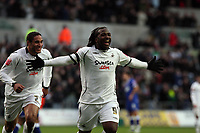 Pictured: Jason Scotland of Swansea celebrating his second goal.<br /> Re: Coca Cola Championship, Swansea City FC v Ipswich Town at the Liberty Stadium. Swansea, south Wales, Saturday 07 February 2009<br /> Picture by D Legakis Photography / Athena Picture Agency, Swansea 07815441513