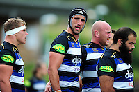 Luke Charteris of Bath Rugby looks on during a break in play. Pre-season friendly match, between the Scarlets and Bath Rugby on August 20, 2016 at Eirias Park in Colwyn Bay, Wales. Photo by: Patrick Khachfe / Onside Images