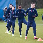 06.03.2020: Rangers training: Alfredo Morelos and Florian Kamberi