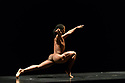 """Acosta Danza, the new dance company founded by Cuban dancer, Carlos Acosta, receives its UK premiere at Sadler's Wells. The piece shown is: """"El cruce sobre el Niagara"""", choreographed by Marianela Boan. Picture shows: Carlos Luis Blanco."""