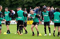 HAREN - Voetbal, Eerste training FC Groningen, Sportpark de Koepel, seizoen 2018-2019, 24-06-2018,  Gerald Postma en FC Groningen speler Mateo Cassierra