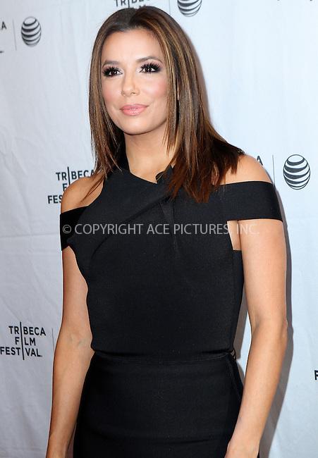 WWW.ACEPIXS.COM<br /> <br /> April 25 2015, New York City<br /> <br /> Actress and director Eva Longoria at the 2015 Tribeca Film Festival - Tribeca Talks/ESPN Sports Film Festival: Go Sebastien Go! at the SVA Theater 1 on April 25, 2015 in New York City.<br /> <br /> By Line: Nancy Rivera/ACE Pictures<br /> <br /> <br /> ACE Pictures, Inc.<br /> tel: 646 769 0430<br /> Email: info@acepixs.com<br /> www.acepixs.com