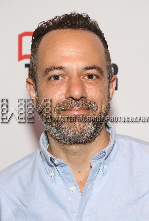 """David Mason attends the photo call for the cast and creative team of MCC Theater's New York Premiere of """"Seared"""" on September 11, 2019 at Artesia Wine Bar in New York City."""