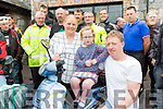Clodagh with her parents Tim and Georgina with some of the Honda 50 enthusiasts who held their Honda 50 run in aid of her in Beaufort on Sunday