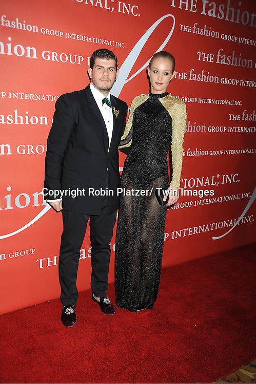 Eli Mizrahi and Elizabeth Gilpin attends the Fashion Group International's 29th Annual  Night of Stars Gala on October 25, 2012 at Cipriani Wall Street in New York City.