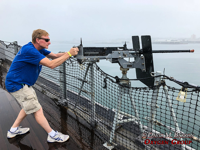 Adam On The USS Missouri