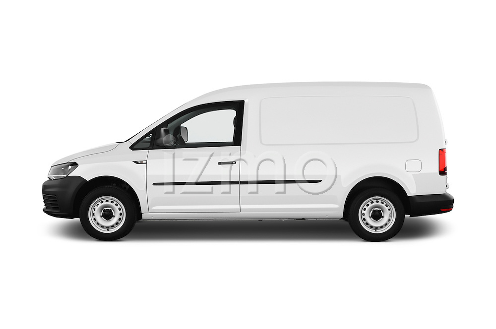 Car Driver Side Profile View Of A 2016 Volkswagen Caddy Maxi Van