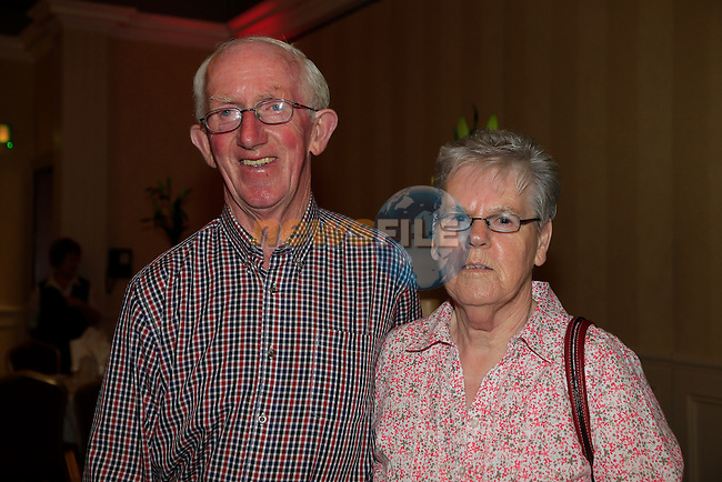 Michael Carry and Philimena Carry at the Boyne Mill reunion in the West Court Hotel.<br /> Picture:  Fran Caffrey www.newsfile.ie