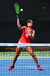 WINSTON SALEM, NC - MAY 22: Janie Shin of the Stanford Cardinal hits a return against the Vanderbilt Commodores during the Division I Women's Tennis Championship held at the Wake Forest Tennis Center on the Wake Forest University campus on May 22, 2018 in Winston Salem, North Carolina. Stanford defeated Vanderbilt 4-3 for the national title. (Photo by Jamie Schwaberow/NCAA Photos via Getty Images)