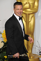 Brad Pitt at the 86th Annual Academy Awards at the Dolby Theatre, Hollywood.<br /> March 2, 2014  Los Angeles, CA<br /> Picture: Paul Smith / Featureflash