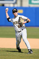 March 14, 2010:  Shortstop Aaron Brill of UMBC in a game vs. Bucknell at Chain of Lakes Stadium in Winter Haven, FL.  Photo By Mike Janes/Four Seam Images