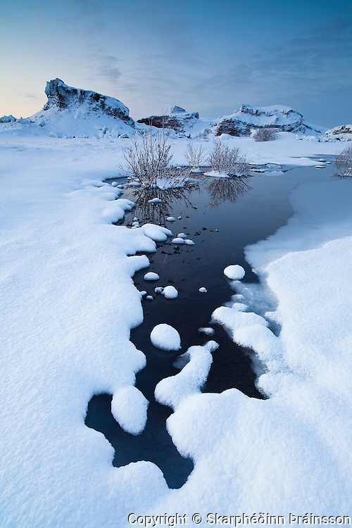 Winter perspective, south-west Iceland