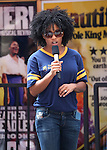 Rashidra Scott during the rehearsal for the 8th Annual Broadway Salutes Presentation at Shubert Alley on September 20, 2016 in New York City.