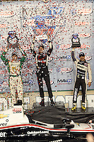 10/19/13 Fontana, CA:  L to right Ed Carpenter, Will Power, and Tony Kanaan