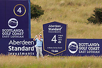 Robert MacIntyre (SCO) on the 4th tee during Round 1 of the Aberdeen Standard Investments Scottish Open 2019 at The Renaissance Club, North Berwick, Scotland on Thursday 11th July 2019.<br /> Picture:  Thos Caffrey / Golffile<br /> <br /> All photos usage must carry mandatory copyright credit (© Golffile | Thos Caffrey)