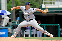 5 June 2010:  FIU's Scott Rembisz (30) pitches in the eighth inning as the Dartmouth Green Wave defeated the FIU Golden Panthers, 15-9, in Game 3 of the 2010 NCAA Coral Gables Regional at Alex Rodriguez Park in Coral Gables, Florida.