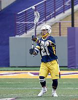 University at Albany Men's Lacrosse defeats Drexel 18-5 on Feb. 24 at Casey Stadium.  Reid Bowering (#21), Drexel attack. (Photo by Bruce Dudek / Cal Sport Media/Eclipse Sportswire)