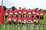 The Killarney team that played Muskerry in Killarney on Sunday front row l-r: Sean Hickey, Peader Crowe, Brian O'Sullivan, Padraig Hallissey, Brian O'Leary, Colin McCarthy. Back row: Alan Mulligan, Eoin Deasy, Gene McCarthy, Ollie O'Neill, Paul O'Sullivan, John O'Sullivan, Adrian Hegarty, Paudie Sheehan and Mike Fleming