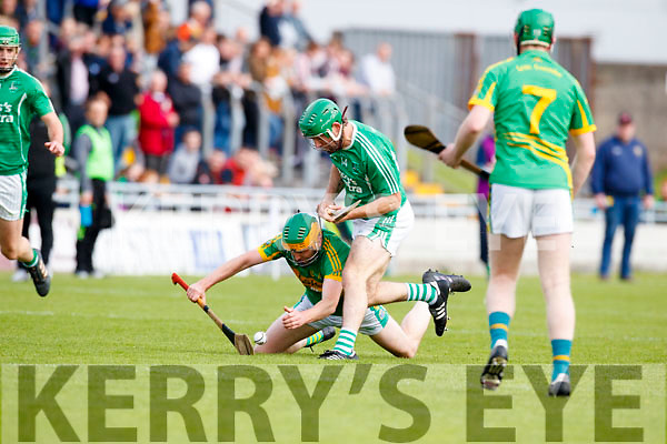 Mikey Boyle (Captain) Ballyduff in action against Stephen Power Lixnaw in the Senior County Hurling Final in Austin Stack Park on Sunday