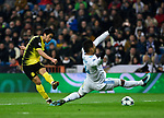 Real Madrid's Carlos Henrique Casemiro and Borussia Dortmund's Shinji Kagawa  during Champions League Group H match 6. December 6,2017. (ALTERPHOTOS/Acero)