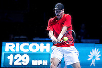 TOMAS BERDYCH (CZE) (7) against NOVAK DJOKOVIC  (SRB) (1) in the Round Robin Stage of the Barclays ATP World Tour Finals. ..ATP World Tour Finals Day 2, 21.11.2011, 21st November, 2011. 02, London. UK..@AMN IMAGES, Frey, Advantage Media Network, Level 1, Barry House, 20-22 Worple Road, London, SW19 4DH.Tel - +44 208 947 0100.email - mfrey@advantagemedianet.com.www.amnimages.photoshelter.com.