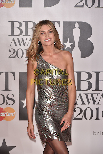 LONDON, ENGLAND - FEBRUARY 24: Abbey Clancy attends the BRIT Awards 2016 at The O2 Arena on February 24, 2016 in London, England<br /> CAP/PL<br /> &copy;Phil Loftus/Capital Pictures