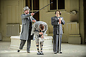 London UK. 19.11.2015. English National Opera presents THE MIKADO, by Arthur Sullivan & W. S. Gilbert, directed by Jonathan Miller, at the London Coliseum. Picture shows: Graeme Danby (Poo-Bah), George Humphreys (Pish-Tush),  Richard Suart (Ko-Ko). Photograph © Jane Hobson.