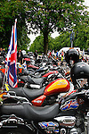 LONDON, ENGLAND, 22 May ,2014.  Bikers gather at Greenwich Park to mark the first anniversary of the murder of Fusilier Lee Rigby  near his Woolwich barracks.