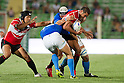 (L-R) Shota Horie,  Ryan Nicholas (JPN), AUGUST 13, 2011, Rugby : International test match between Italy 31-24 Japan at Dino Manuzzi Stadium, Cesena, Italy, (Photo by Enrico Calderoni/AFLO SPORT) [0391]