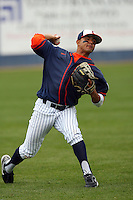 February 22 2009: Christian Colon of the CSUF Titans during game against the TCU Horned Frogs at Goodwin Field in Fullerton,CA.  Photo by Larry Goren/Four Seam Images