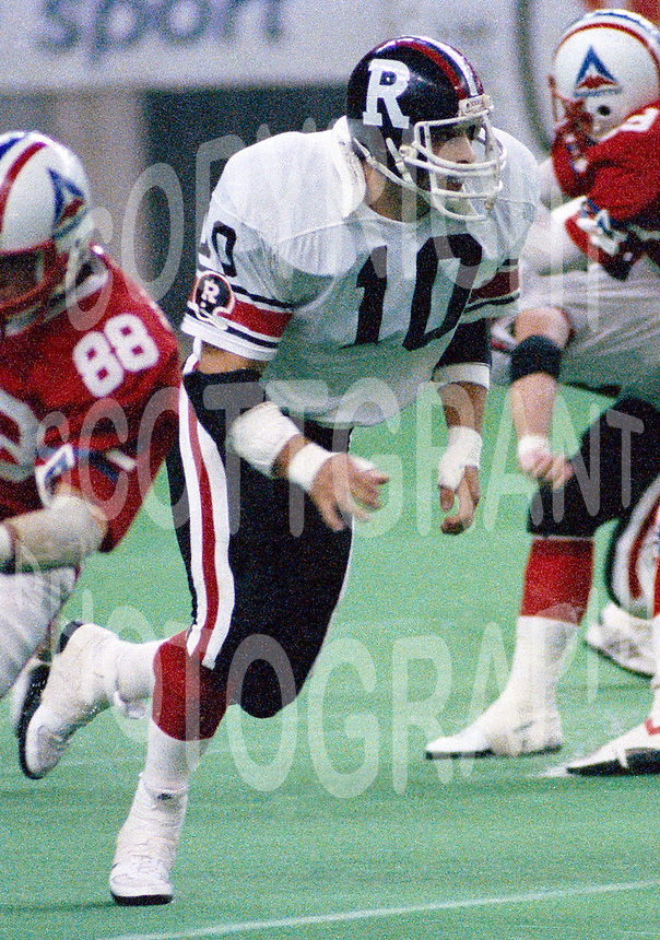 Greg Miller Ottawa Rough Riders 1986. Photo John Bradley