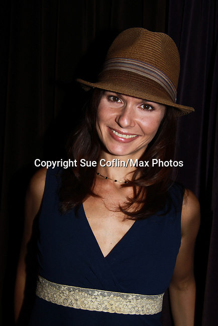 """One Life To Live Florencia Lozano attends the play """"The Wood"""" at the Rattlestick Playwrights Theater, New York City, New York. The photo was taken on Septermber 16, 2011 night after opening night. John as """"Mike"""" in The Wood which is a """"heartfelt no-holds-barred look at """"Mike McAlary"""" larger than life columnist. His missionary zeal to ferret out the truth."""" (Photo by Sue Coflin/Max Photos)"""
